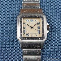 Cartier Santos Galbée Сталь 28mm Белый Римские