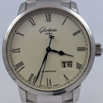 Glashütte Original Senator Panorama Date pre-owned Silver Steel
