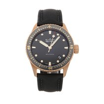 Blancpain Fifty Fathoms Bathyscaphe Rose gold 43mm Black No numerals