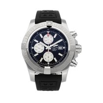 Breitling Super Avenger II pre-owned 48mm Black Chronograph Date Rubber