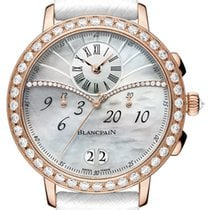 Blancpain Women Rose gold 38.6mm Mother of pearl