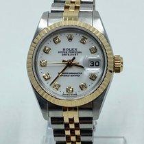 Rolex Lady-Datejust Zlato/Zeljezo 26mm Bjel Bez brojeva