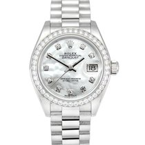 Rolex Lady-Datejust Platinum 28mm Mother of pearl No numerals United Kingdom, Manchester