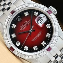 Rolex Datejust Staal 36mm Rood