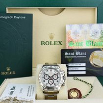 Rolex Silver Chronograph 40mm pre-owned Daytona
