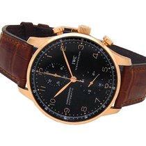 IWC Portuguese Chronograph Rose gold 41mm Black Arabic numerals United States of America, New York, Greenvale