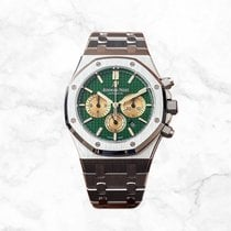 Audemars Piguet Royal Oak Chronograph Platinum 41mm Green No numerals