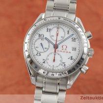 Omega Speedmaster Date occasion 39mm Blanc Chronographe Date Acier