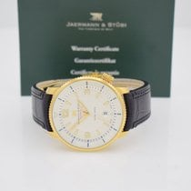 Jaermann & Stübi Or jaune 44mm Remontage automatique occasion