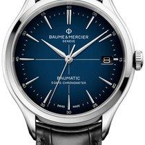 Baume & Mercier neu Automatik Sichtboden Zentralsekunde Chronometer 40mm Stahl Saphirglas
