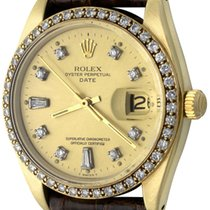 Rolex Oyster Perpetual Date Yellow gold 34mm Champagne No numerals United States of America, Texas, Dallas
