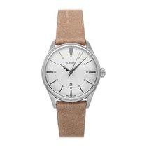 Oris Artelier Date pre-owned 33mm Silver Date Leather
