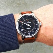 Meistersinger Perigraph Steel 43mm Black Arabic numerals