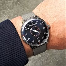 Meistersinger Neo Plus Steel 40mm Blue Arabic numerals