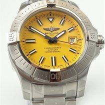Breitling Avenger Seawolf Сталь 45mm Жёлтый Без цифр