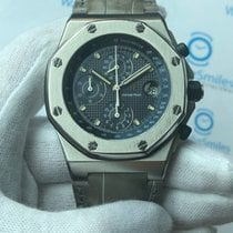 Audemars Piguet Royal Oak Offshore Chronograph occasion 42mm Bleu Chronographe Date Cuir