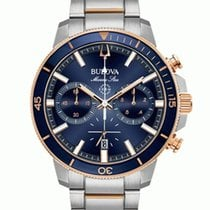 Bulova Marine Star Gold/Steel 45mm Blue No numerals