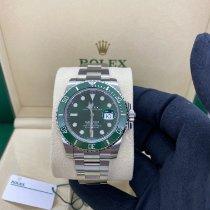 Rolex Submariner Date Staal 40mm Groen Geen cijfers