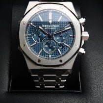 Audemars Piguet Royal Oak Chronograph Acier Bleu Sans chiffres