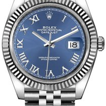 Rolex Datejust Сталь 41mm Синий Римские