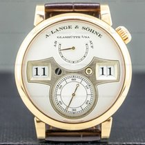 A. Lange & Söhne Zeitwerk pre-owned 41.9mm Silver Jumping hour Leather