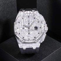Audemars Piguet Royal Oak Offshore Royal Oak Offshore custom 18K white gold full diamond 44MM Unworn White gold 44mm Automatic