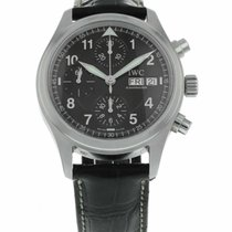 IWC Steel 39mm Automatic Pilot Spitfire Chronograph pre-owned