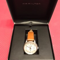 Hamilton Jazzmaster Viewmatic pre-owned 40mm Silver Date Leather