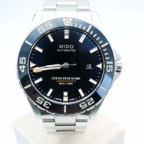 Mido Ocean Star Stal Niebieski Bez cyfr