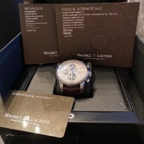 Maurice Lacroix Pontos Chronographe Rétro Stahl 43mm Weiß