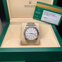 Rolex Oyster Perpetual 39 pre-owned 39mm White Chronograph Steel