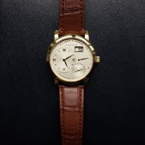 A. Lange & Söhne Yellow gold Manual winding Silver Roman numerals 38.5mm pre-owned Lange 1