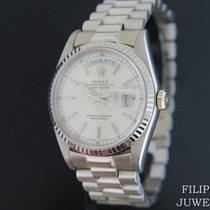 Rolex Day-Date 36 Witgoud 36mm Zilver Nederland, Maastricht