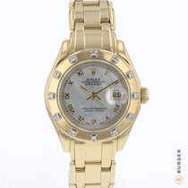 Rolex Lady-Datejust Pearlmaster Oro amarillo 28mm Madreperla