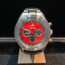 Omega Speedmaster Steel 42mm Red No numerals