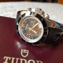 Tudor Grantour Chrono Acier 42mm Noir Sans chiffres
