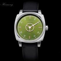 Schaumburg Steel 39mm Automatic Watch Squarematic Harmony  - Manufac. Cal. SWSJ-20A - new