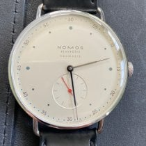 NOMOS Metro Neomatik pre-owned 38.5mm Silver Leather