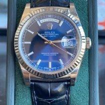 Rolex Day-Date 36 Or blanc 36mm Bleu Sans chiffres France, nice