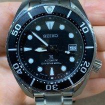 Seiko Prospex Acier 45mm Noir Sans chiffres