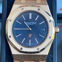 Audemars Piguet Royal Oak Jumbo Or rose 39mm Bleu Sans chiffres France, nice