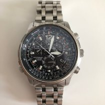 Citizen Promaster Sky pre-owned 45mm Black Chronograph Date Weekday Perpetual calendar Alarm Tachymeter Steel