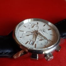 Longines Column-Wheel Chronograph pre-owned White Chronograph Date Calf skin