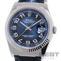 Rolex Datejust Turn-O-Graph Weißgold 36mm Blau