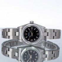 Rolex Oyster Perpetual Steel 24mm Black Arabic numerals