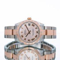 Rolex Lady-Datejust Gold/Stahl 31mm Pink Römisch