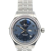 Ball Steel Automatic Blue 41mm pre-owned Trainmaster Cleveland Express