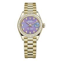 Rolex Lady-Datejust Gelbgold 28mm Violett Keine Ziffern