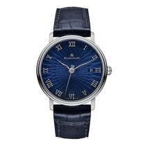 Blancpain White gold Automatic Blue Roman numerals 38mm new Villeret Ultra-Slim
