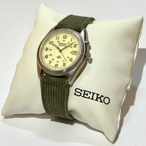 Seiko Kinetic Stal 34mm Szampański Bez cyfr